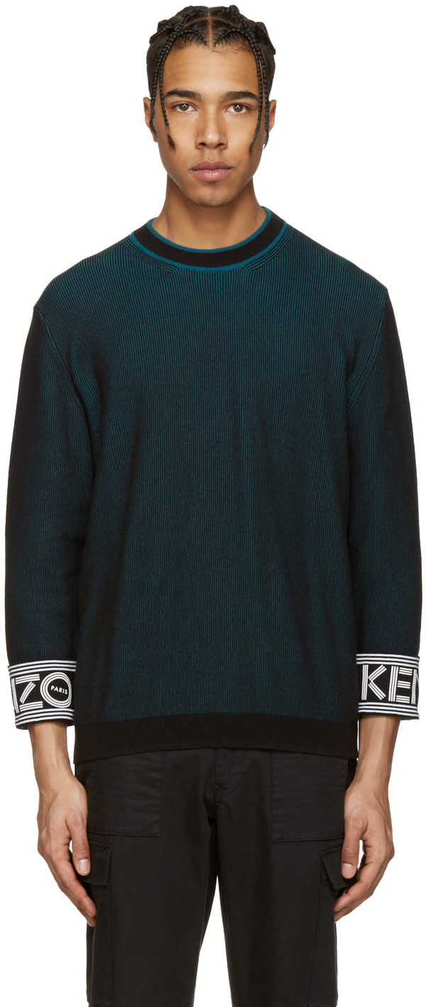 Kenzo Black Logo Cuff Pullover