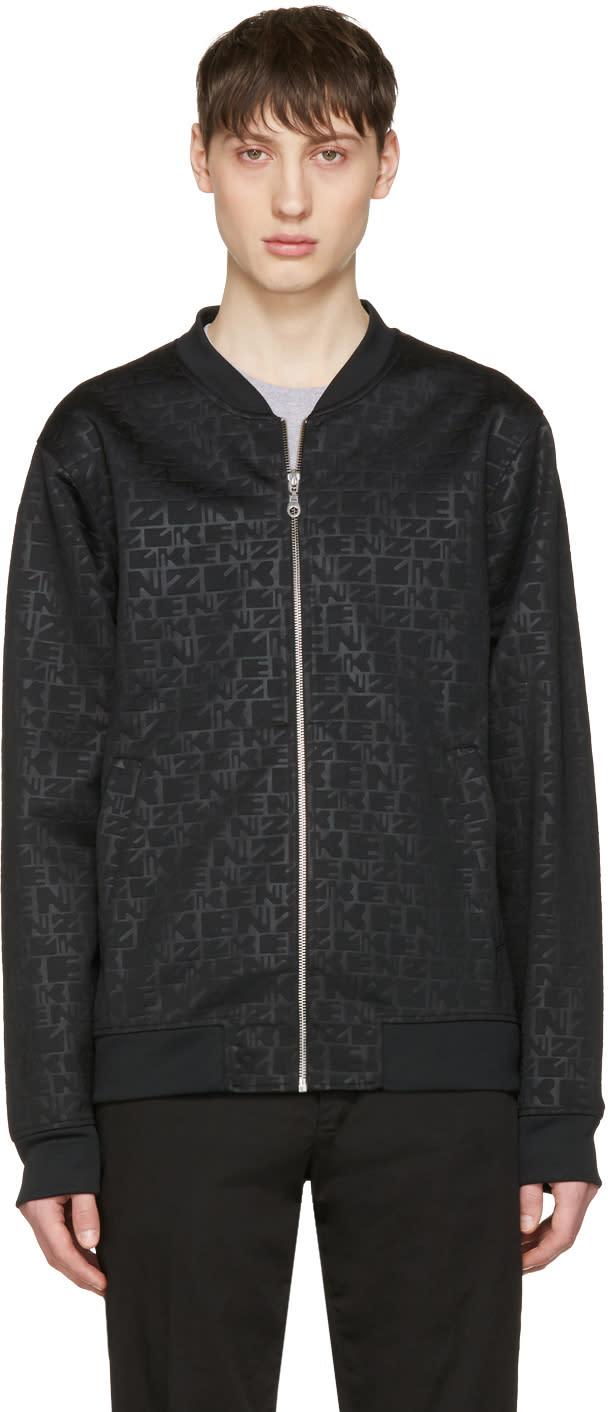 Kenzo Black Logo Bomber Jacket