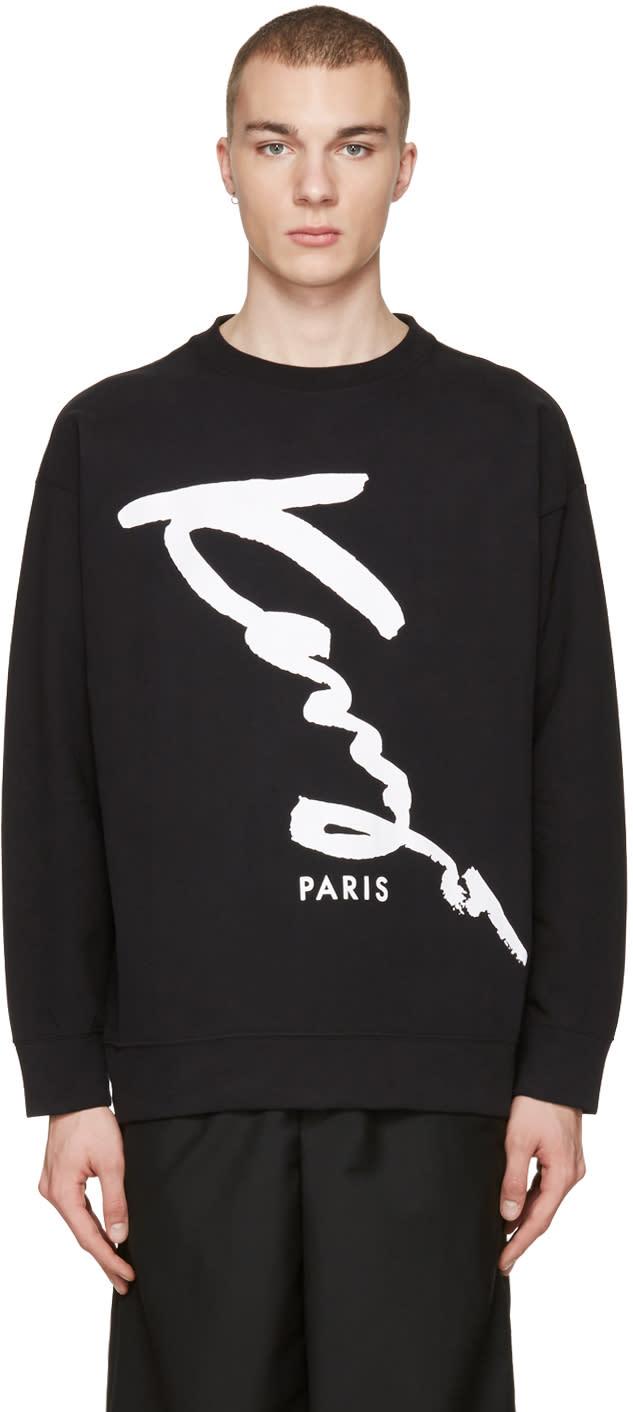 Kenzo Black Oversized Signature Logo Pullover