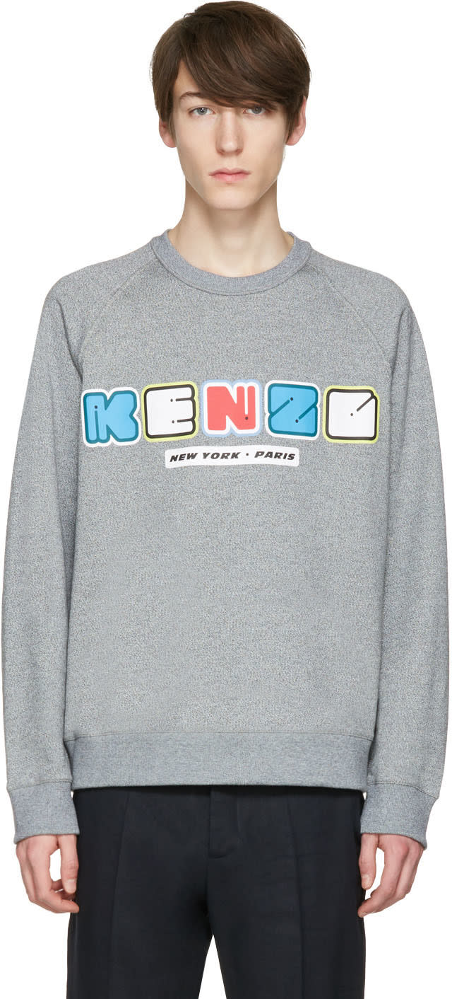 Kenzo Grey Nasa Pullover
