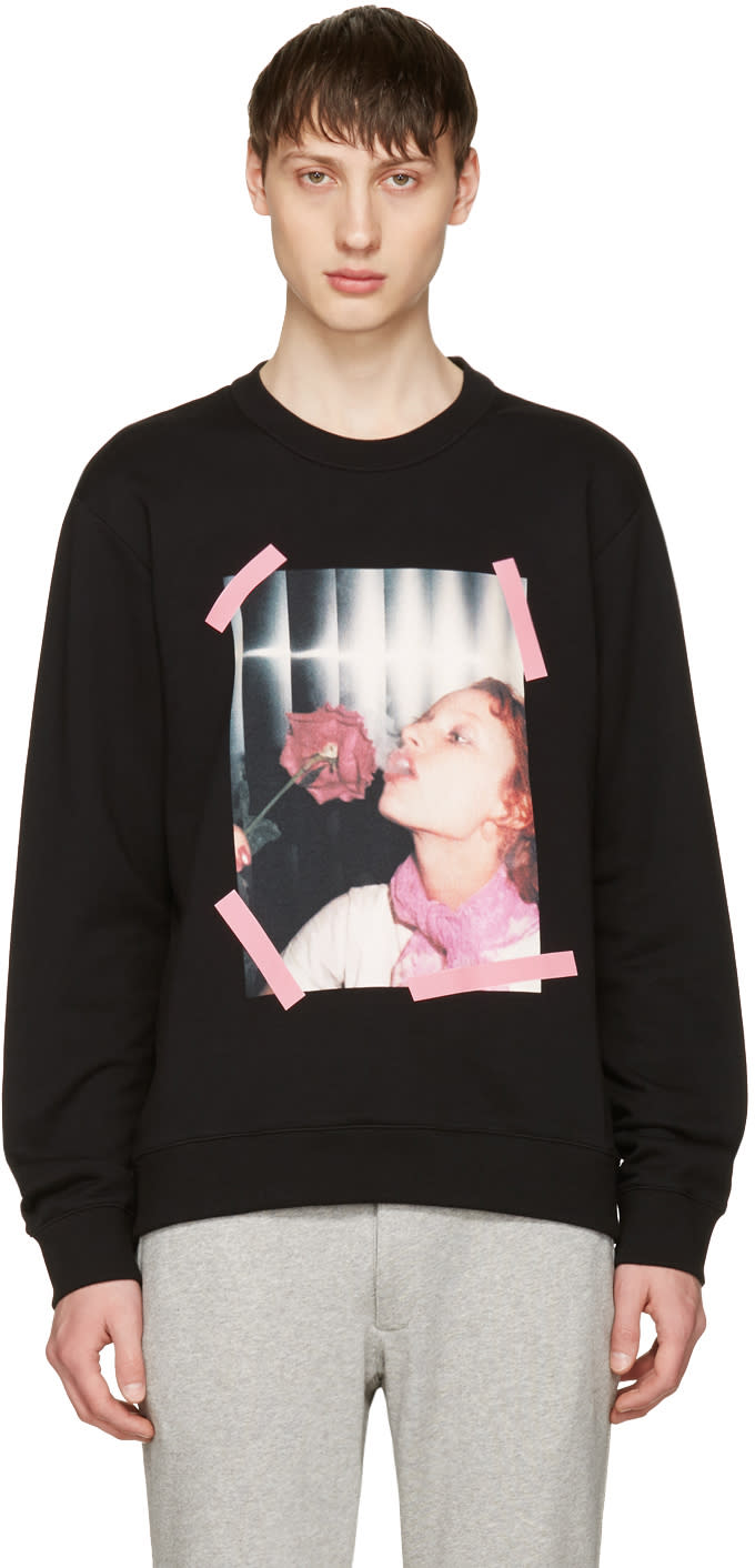 Kenzo Black girl With Rose Sweatshirt