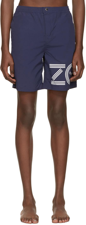 Kenzo Blue Logo Swim Shorts