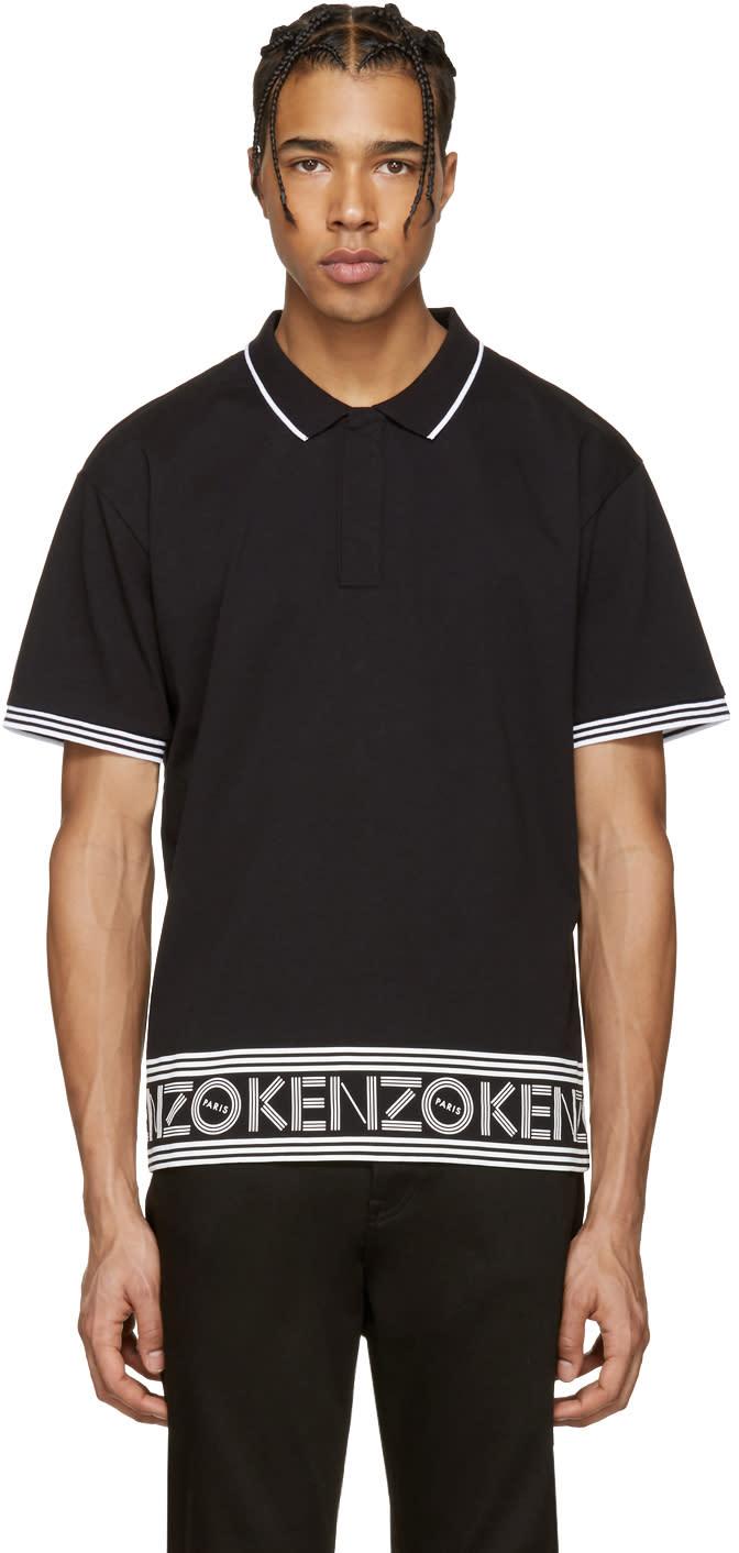 Kenzo Black Logo Polo
