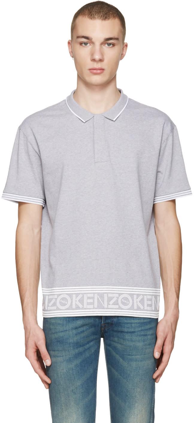 Kenzo Grey Logo Hem Polo