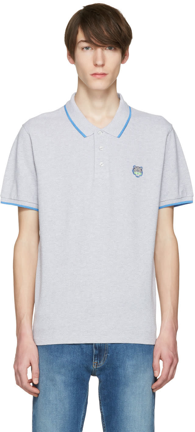 Kenzo Grey Tiger Patch Polo
