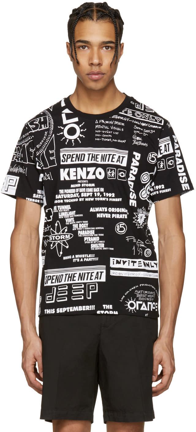 Kenzo Black Flyers Paradise T-shirt