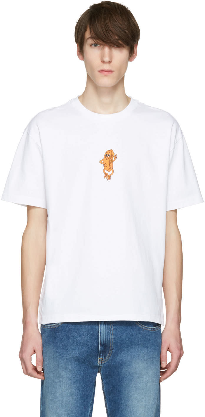 Kenzo White Dancing Hot Dog T-shirt