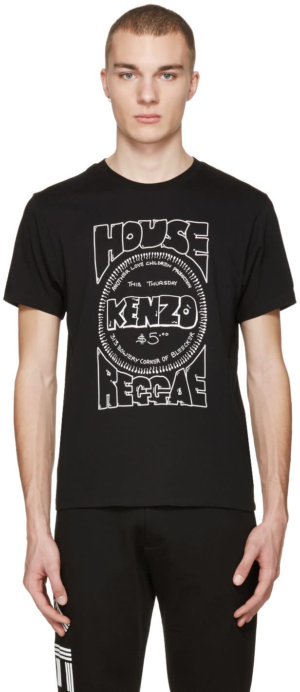 Kenzo Black house Reggae T-shirt