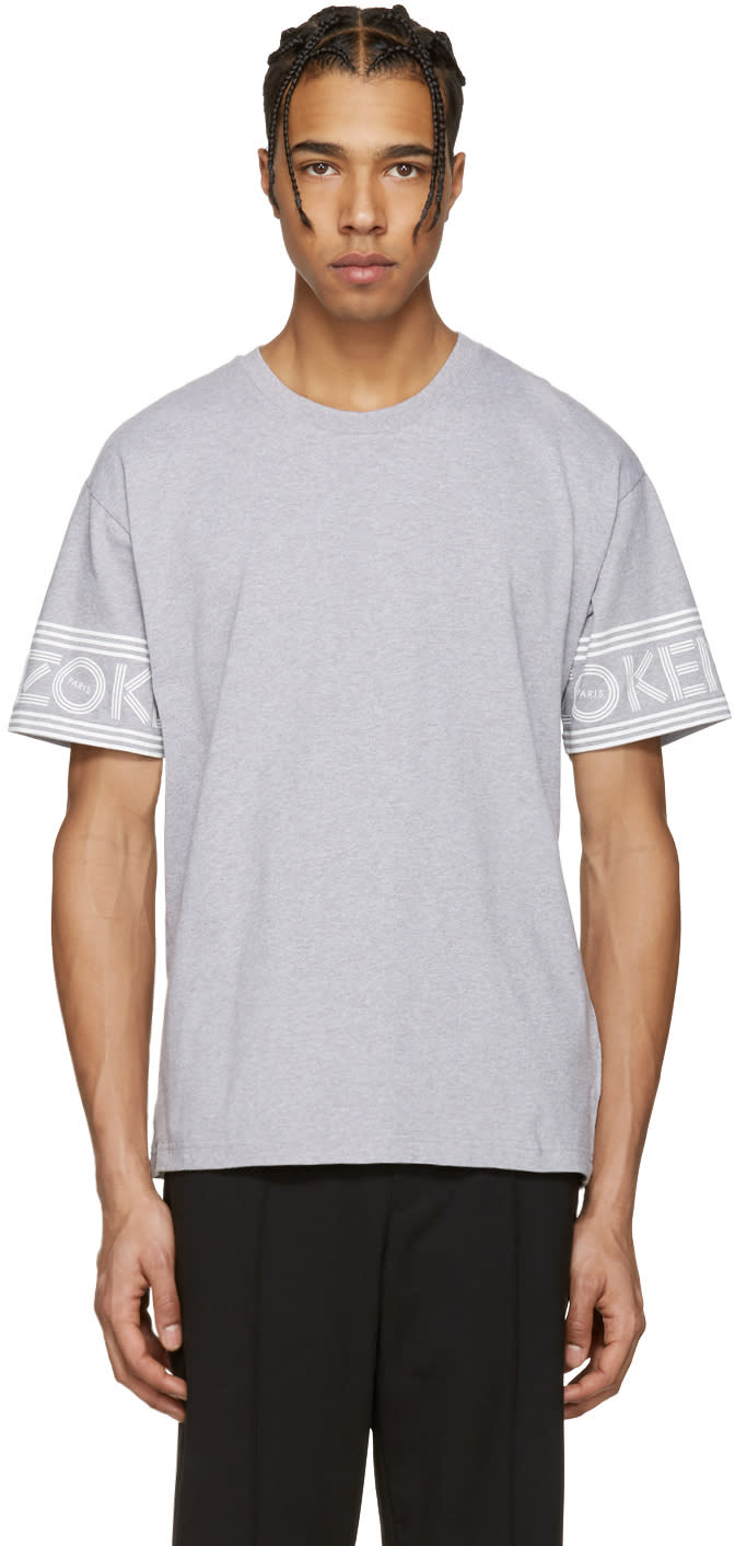 Kenzo Grey Logo Sleeves T-shirt