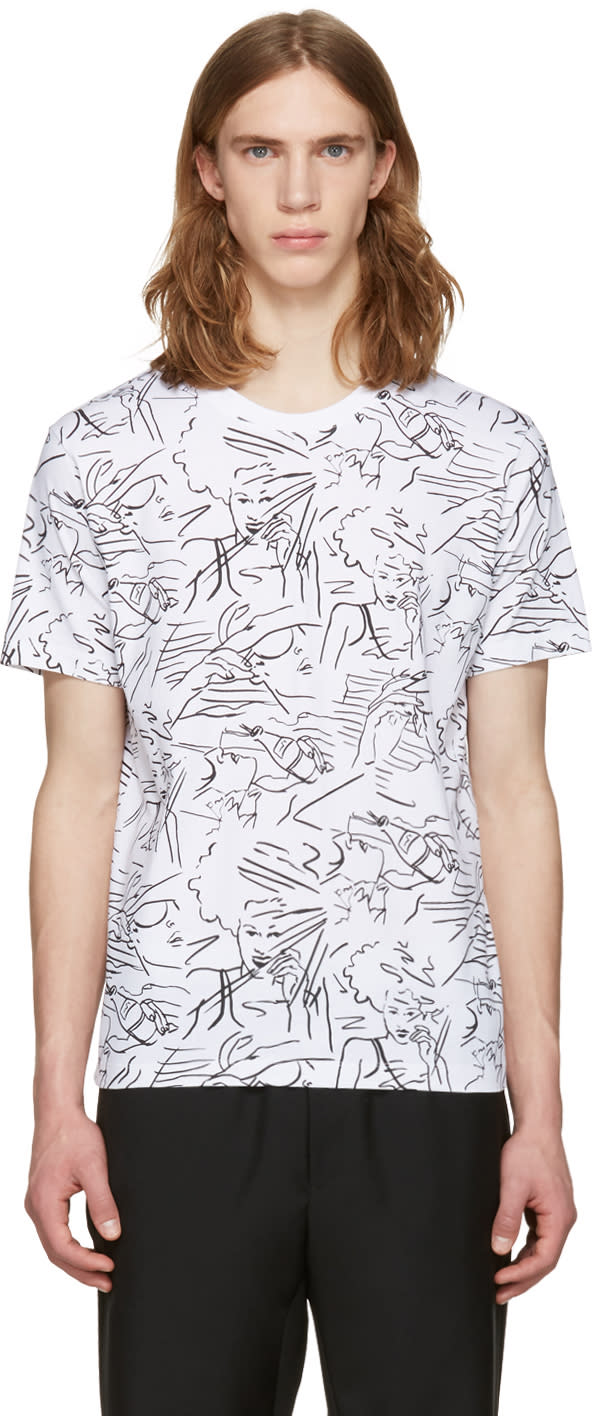 Kenzo White Sketches Jersey