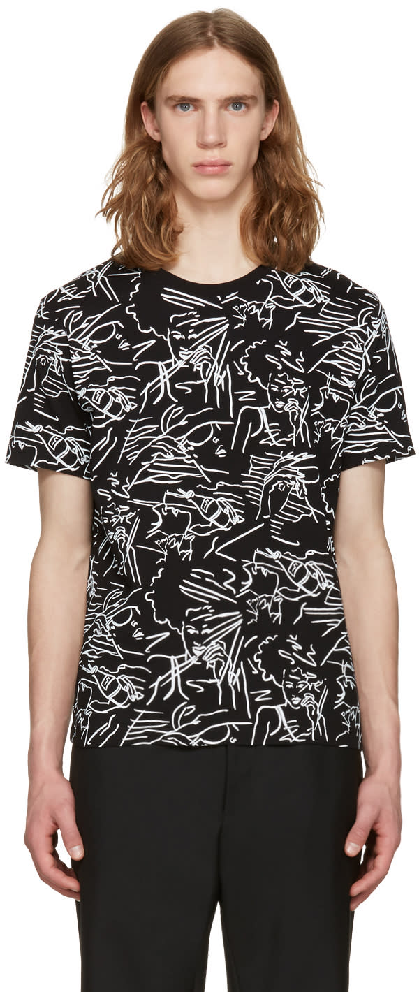 Kenzo Black Sketches T-shirt