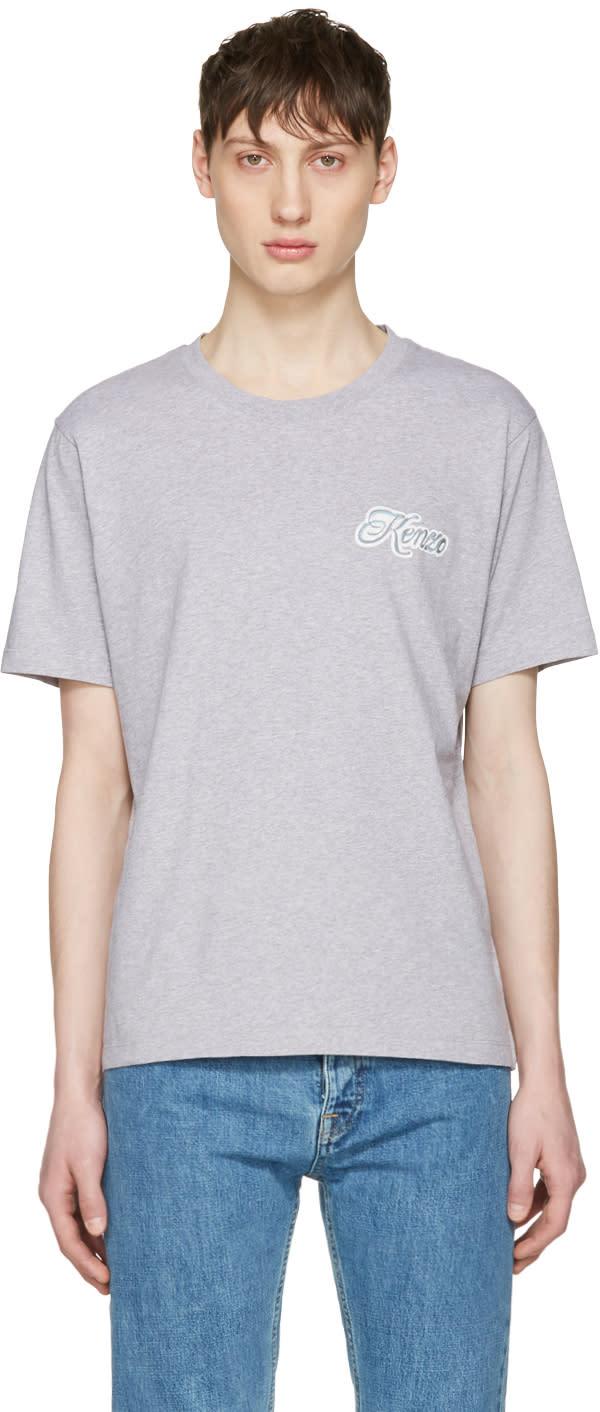 Kenzo Grey Disco Logo T-shirt