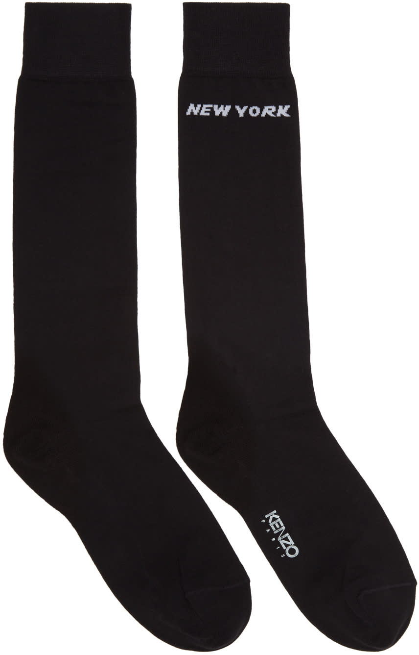 Kenzo Black Paris-new York Socks