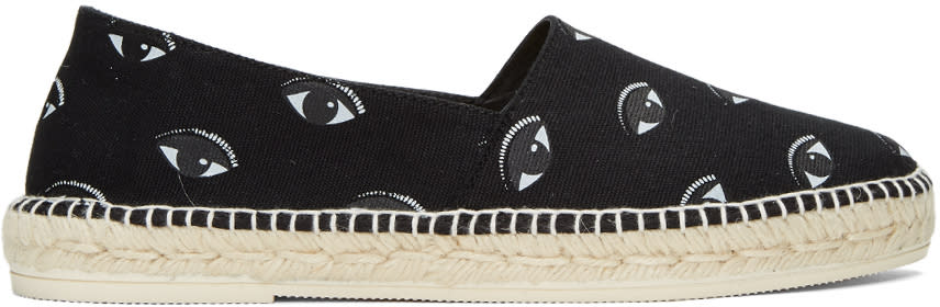 Kenzo Black Canvas Eyes Espadrilles