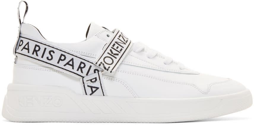 Kenzo White Calvin Sneakers