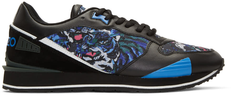 Kenzo Blue Flying Tiger Running Sneakers