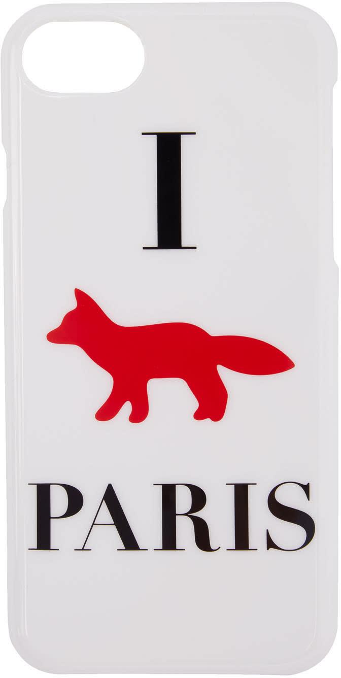 Maison Kitsune White i Fox Paris Iphone 7 Case