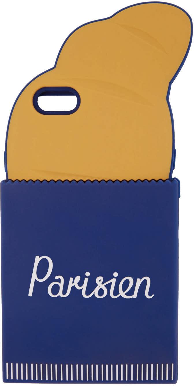 Maison Kitsune Navy and Orange parisien 3d Croissant Iphone 6 Case