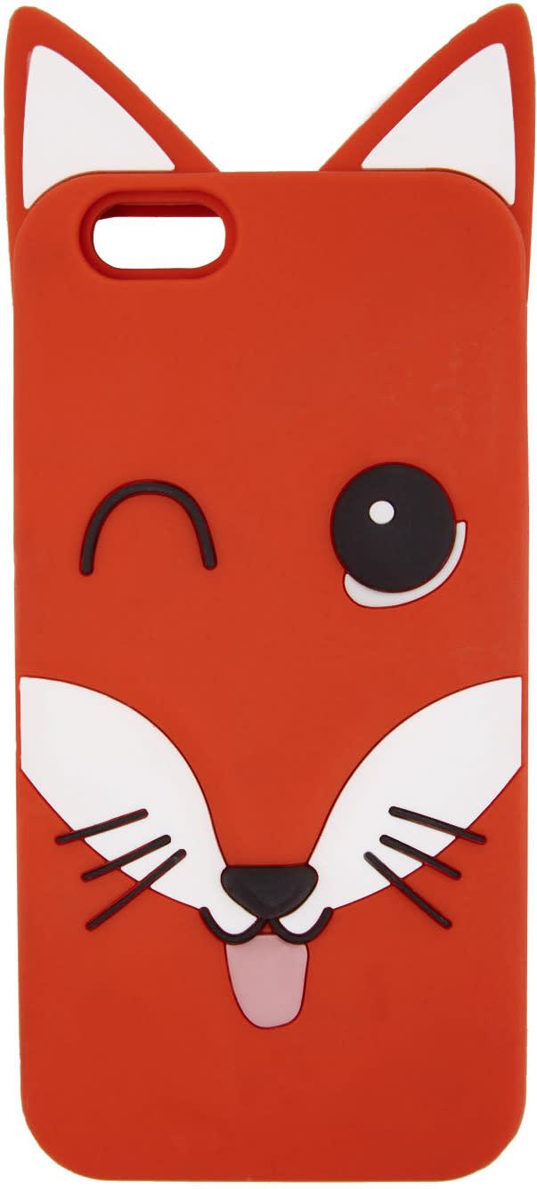 Maison Kitsune Orange 3d Fox Head Iphone 6 Case