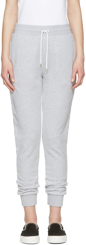 Maison Kitsune Grey Jogger Lounge Pants