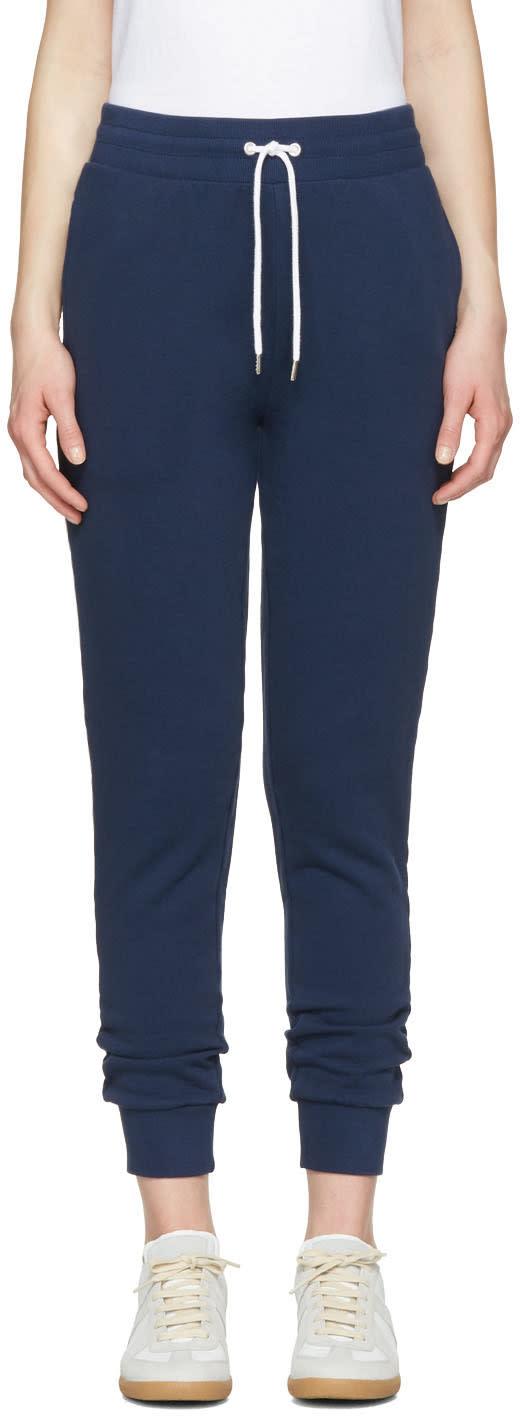 Maison Kitsune Blue Jogger Lounge Pants