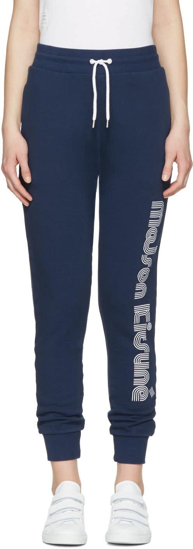 Maison Kitsune Blue Logo Lounge Pants