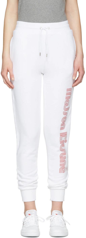 Maison Kitsune White Logo Lounge Pants