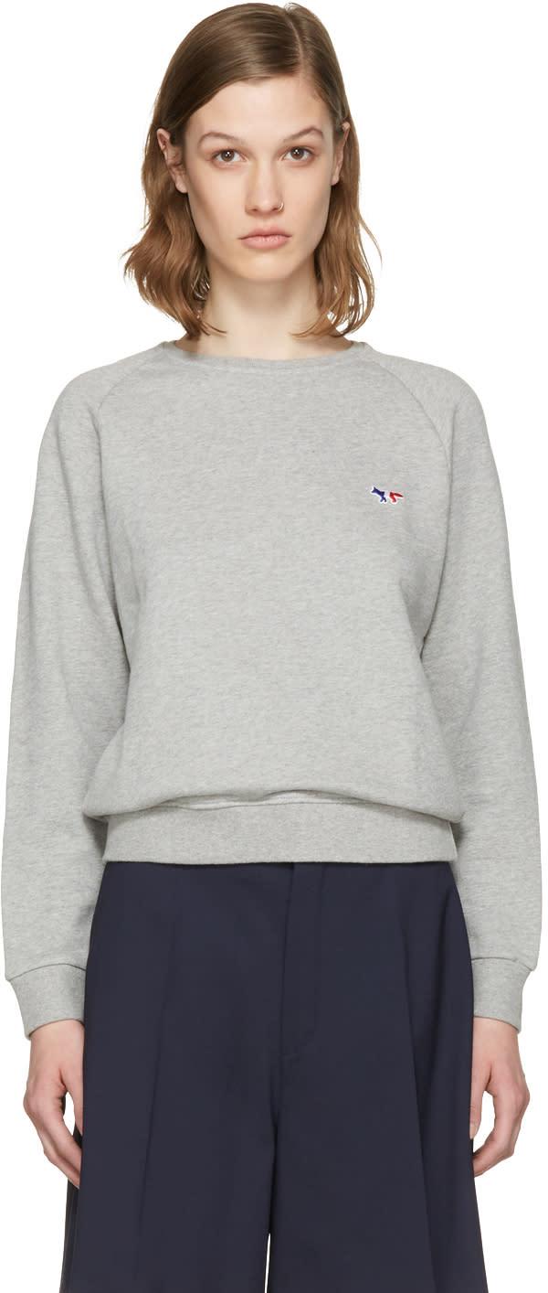 Maison Kitsune Grey Fox Patch Pullover