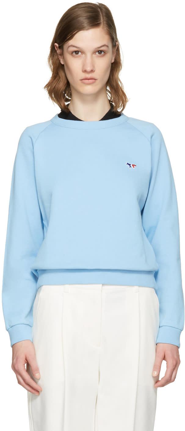 Maison Kitsune Blue Fox Patch Pullover
