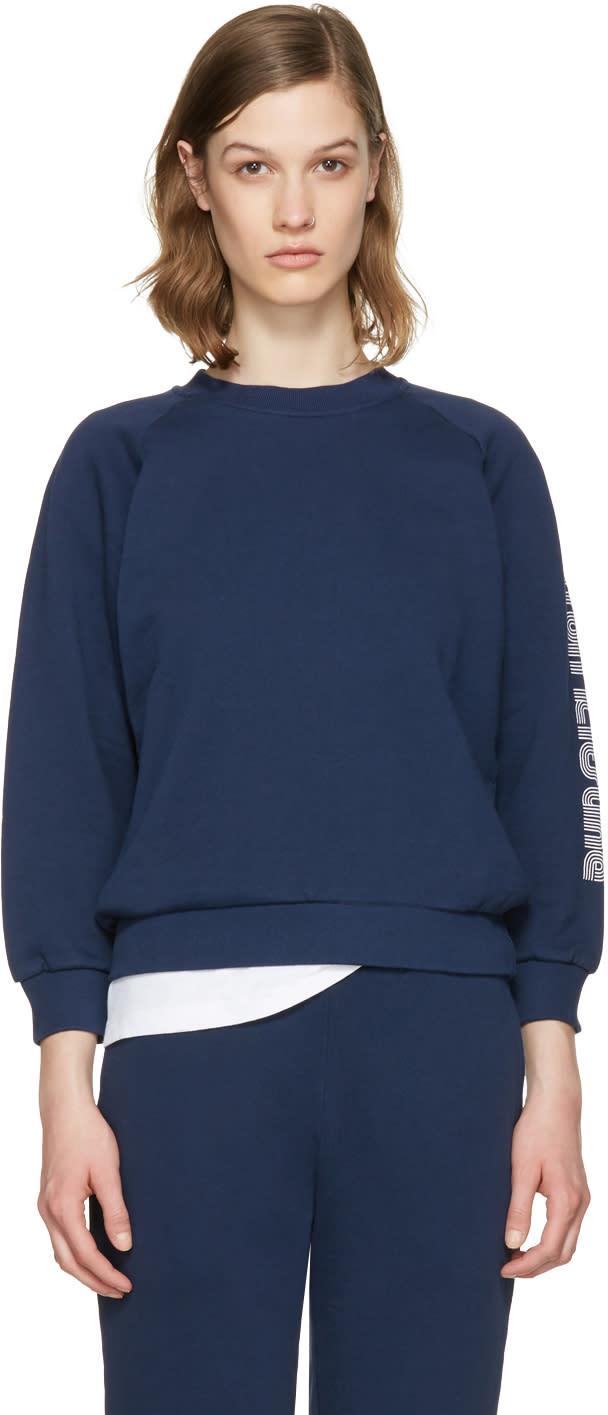 Maison Kitsune Blue Logo Sleeve Pullover