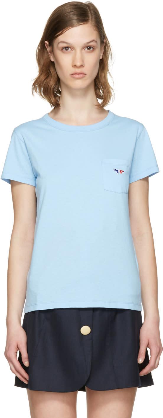 Maison Kitsune Blue Fox Patch T-shirt