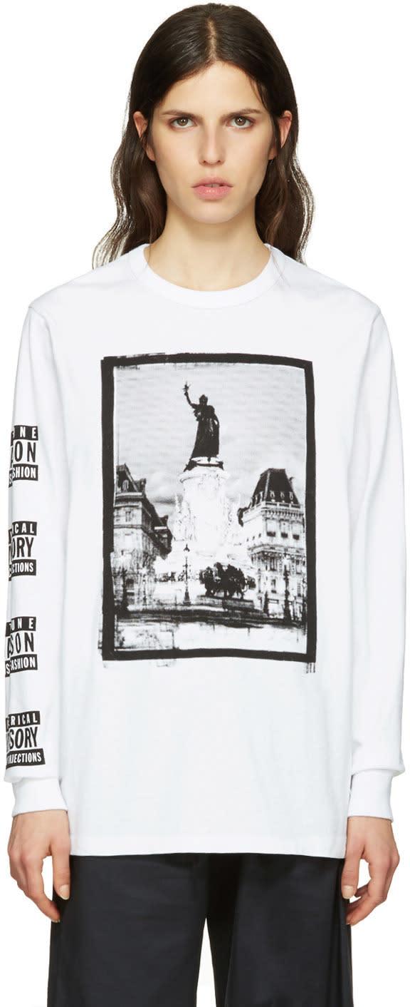 Maison Kitsune Ssense Exclusive White Maison 18 T-shirt