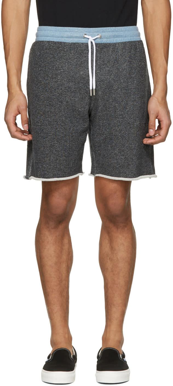 Maison Kitsune Black Jogg Shorts