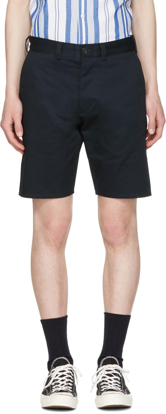 Maison Kitsune Navy Jay Chino Shorts
