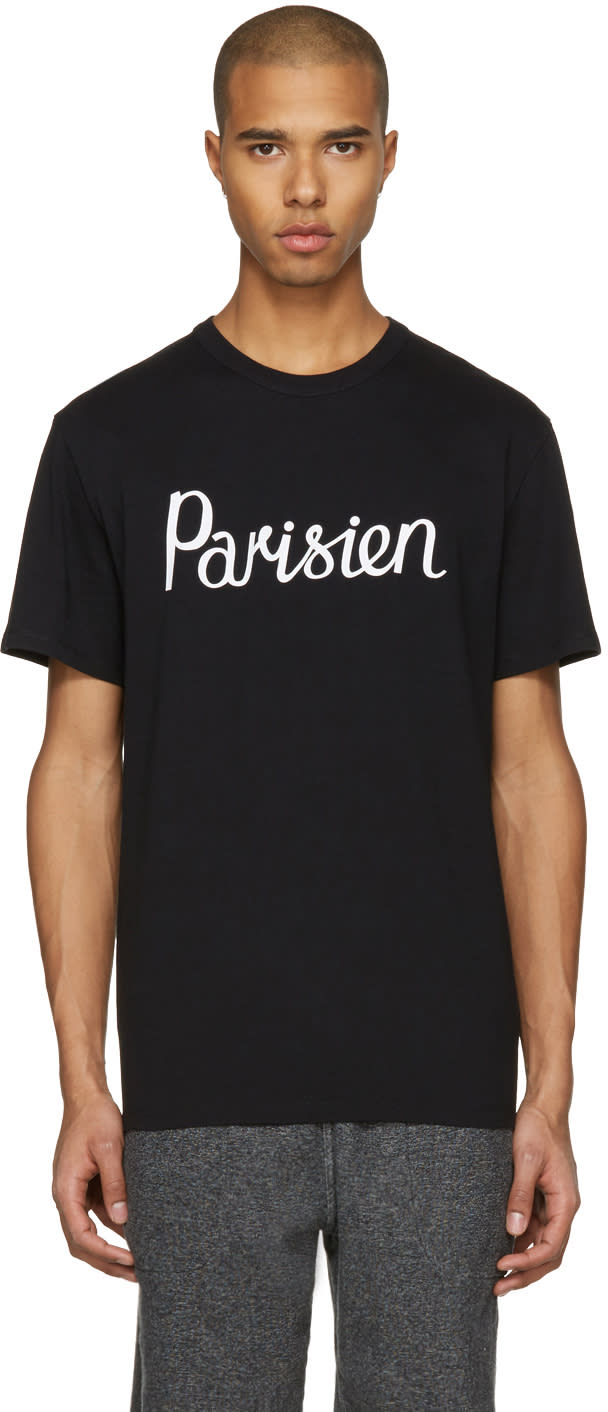 Maison Kitsune Black parisien T-shirt