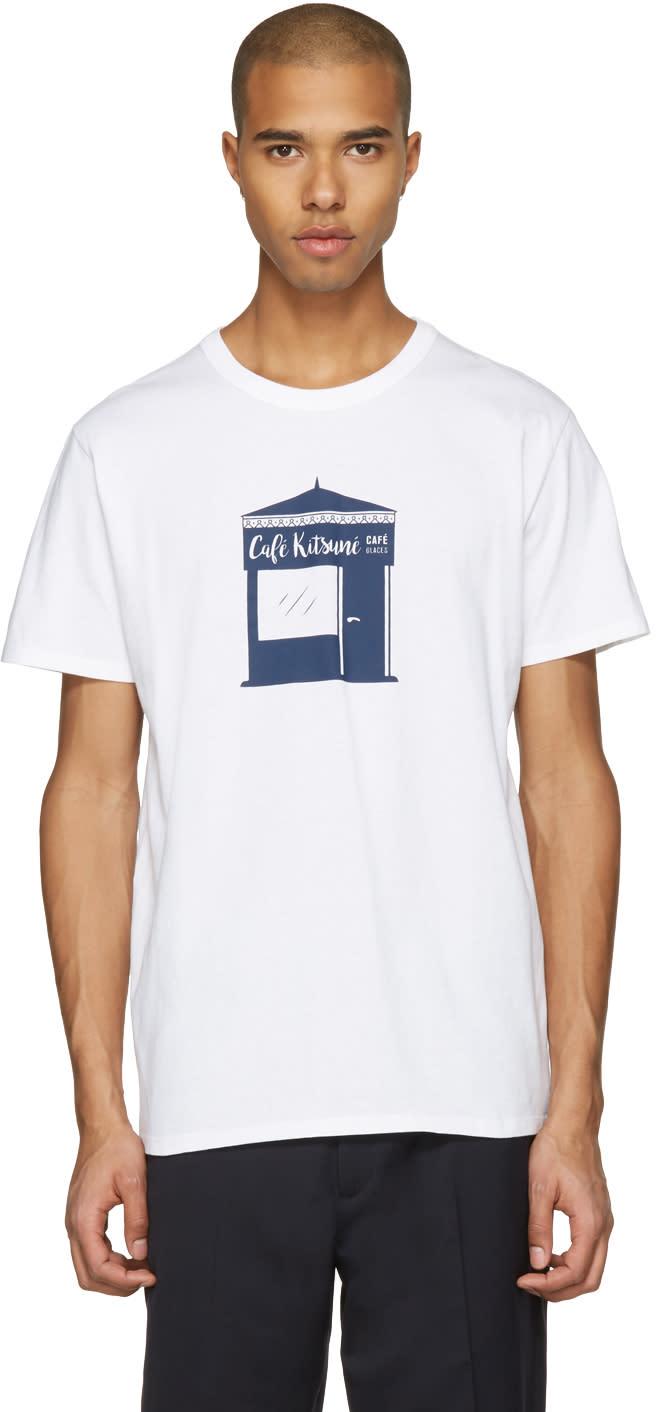 Maison Kitsune White Kiosque T-shirt