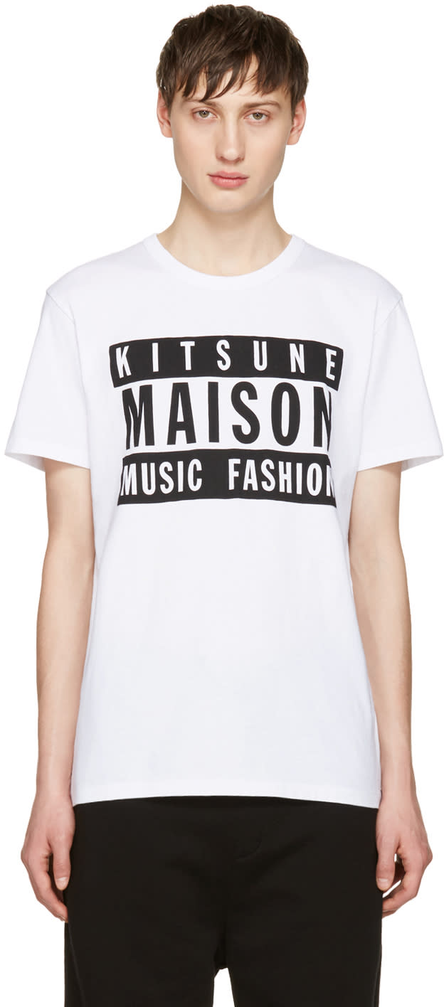 Maison Kitsuné Ssense 限定 ホワイト マルソ 18 エディション T シャツ