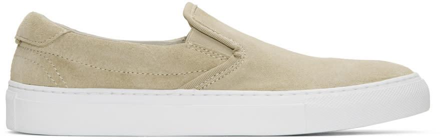 Image of Diemme Beige Suede Garda Slip-on Sneakers