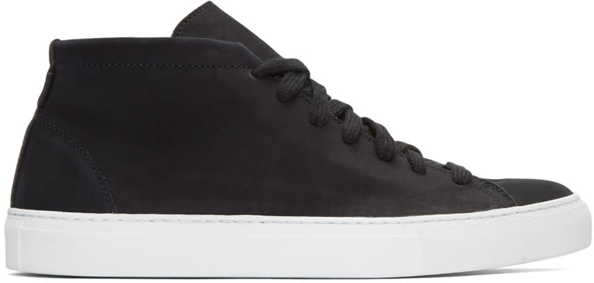 Diemme Black Nubuck Loria Mid-top Sneakers
