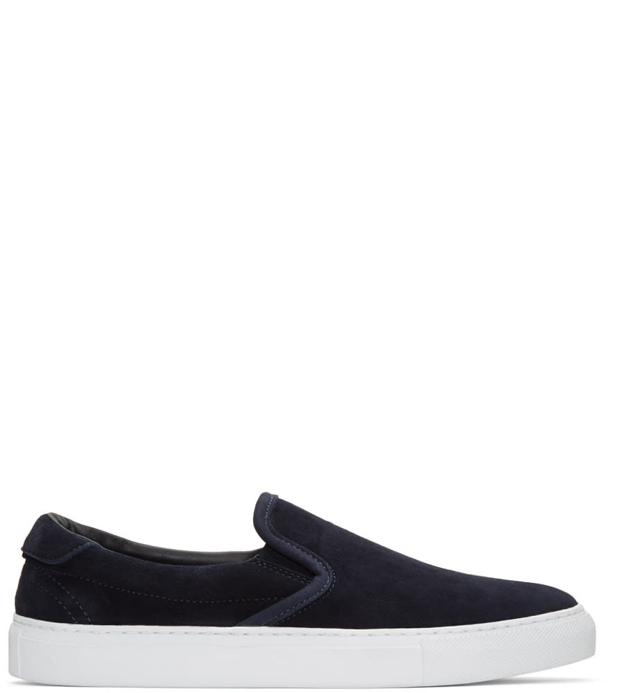 Diemme Navy Suede Garda Slip-on Sneakers