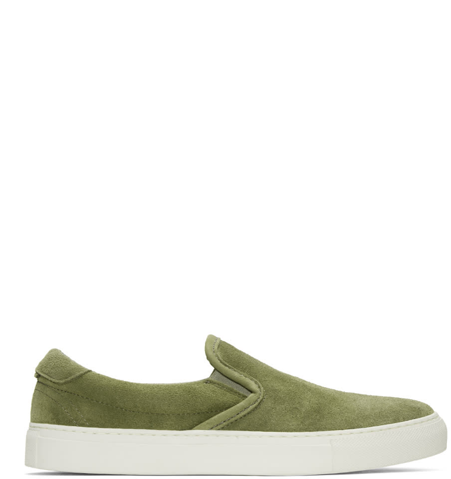 Diemme Green Suede Garda Slip-on Sneakers