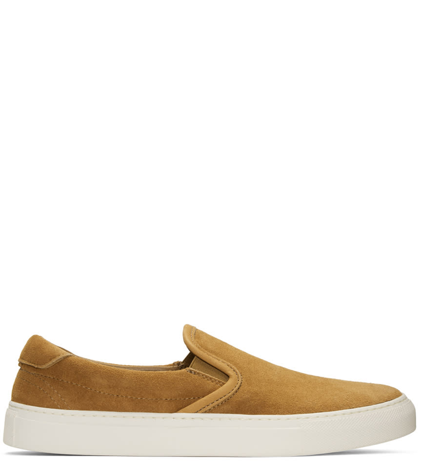 Diemme Tan Suede Garda Slip-on Sneakers