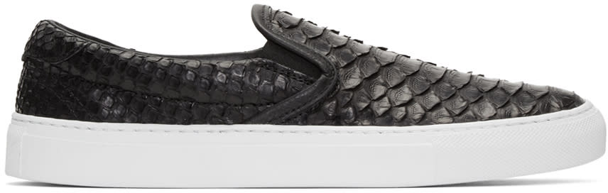 Diemme Black Python Garda Slip-on Sneakers