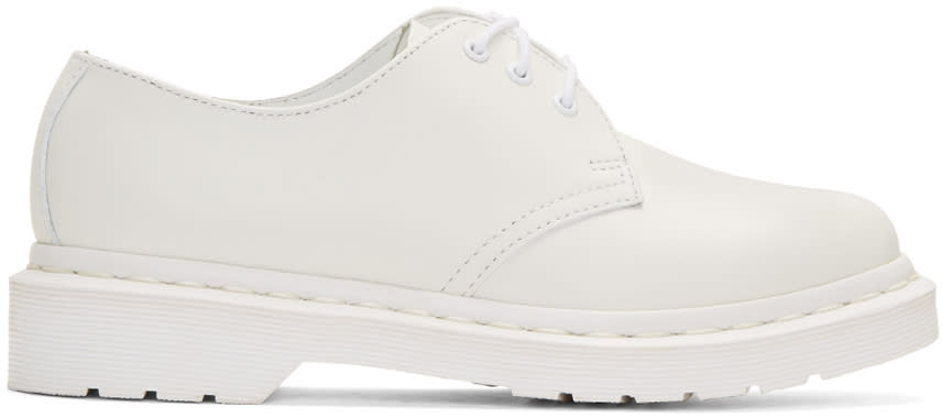 Dr. Martens White Three-eye 1461 Gibson Derbys