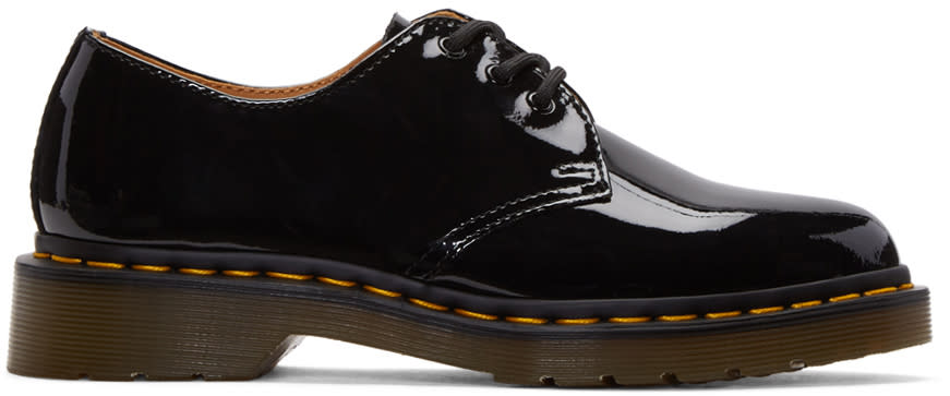 Dr. Martens Black Patent Three-eye 1461 Derbys