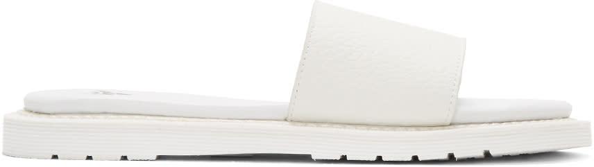 Dr. Martens White Cierra Ii Slide Sandals