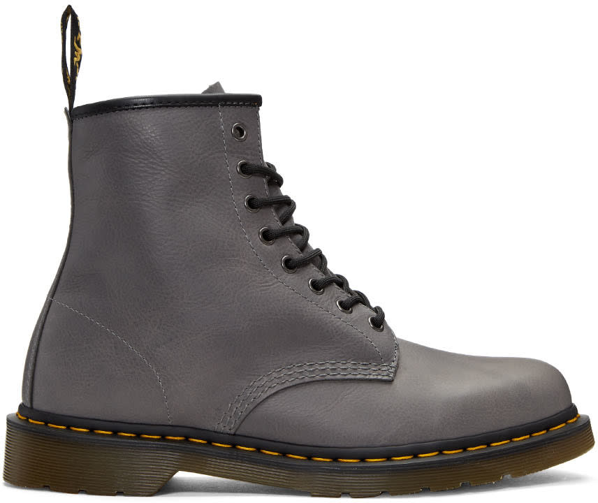 Dr. Martens Grey 1460 Lace-up Boots