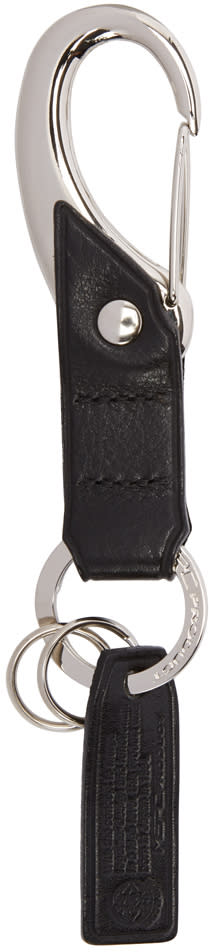 Master-piece Co Black Leather Keychain
