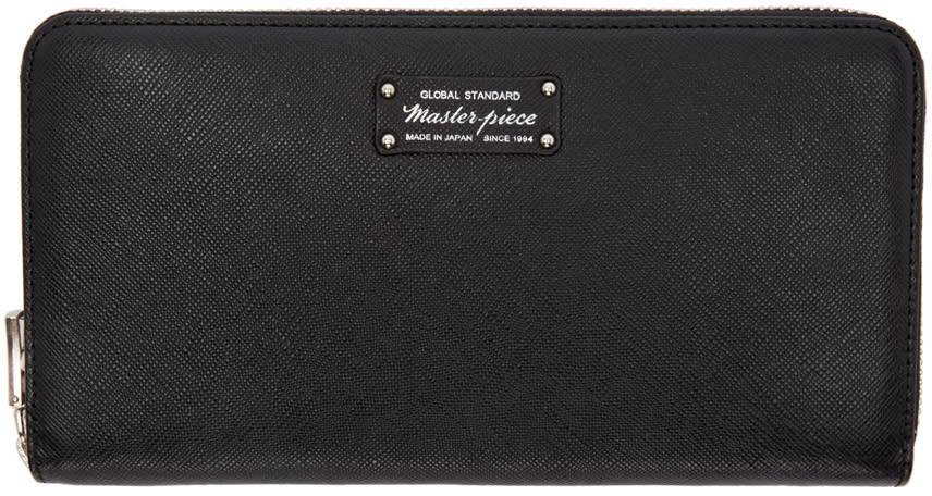 Master-piece Co Black Continental Wallet