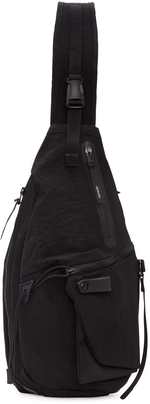 Master-piece Co Black Single Strap Backpack